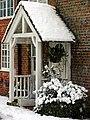 Snow Falling on residence, Woolhampton - geograph.org.uk - 333347.jpg