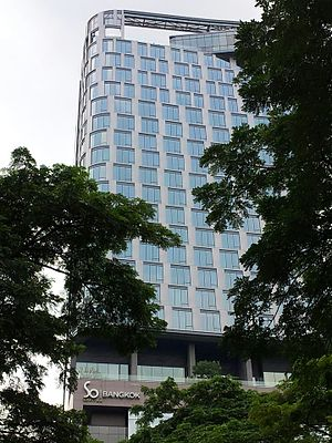 AccorHotels - SO Sofitel Bangkok, as seen from Lumpini Park