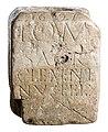 Sokkel met wijopschrift aan Jupiter, herbruikt als wijwatervat in kalksteen, 175 tot 250 NC, vindplaats- Vliermaal, Zammelen, 1627-1969, collectie Gallo-Romeins Museum Tongeren, 71.B.jpg