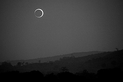 Solar annular eclipse of January 15, 2010 in Bangui, Central African Republic.JPG