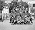 Soldier, tableau, chair, lath fence Fortepan 7207.jpg