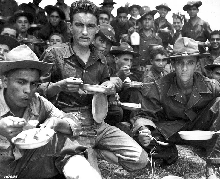 File:Soldiers of 65th Infantry after an all day schedule of maneuvers at Salinas, Puerto Rico. August 1941..jpg