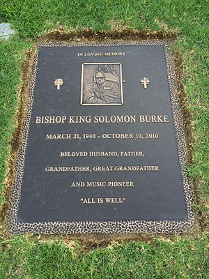 Solomon Burke - Grave of Solomon Burke at Forest Lawn Hollywood Hills