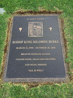 Solomon Burke - Grave of Solomon Burke at Forest Lawn Hollywood Hills