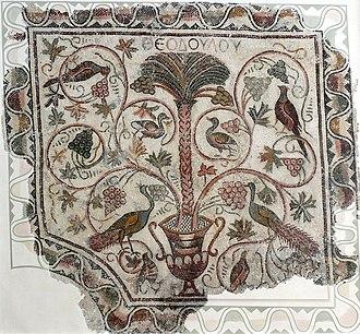 Tunisian wine - Image: Sousse mosaic palm tree