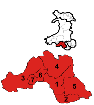 South Wales West (National Assembly for Wales electoral region) - Image: South Wales West results 2016
