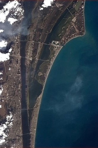 Space Coast - Florida's Space Coast surrounding Merritt Island, seen from the International Space Station