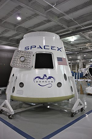 SpaceX's Dragon capsule. Mockup?