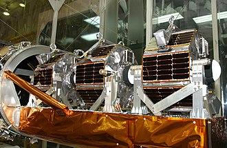 Small satellite - Three microsatellites of Space Technology 5