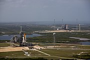 Space shuttles Atlantis (STS-125) and Endeavour (STS-400) on launch pads again