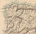 Spain and Portugal in provinces. 1838. Philip Smith (detalle noroeste).jpg