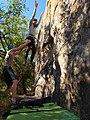 Spotter guiding falling climber in Rocklands.jpg