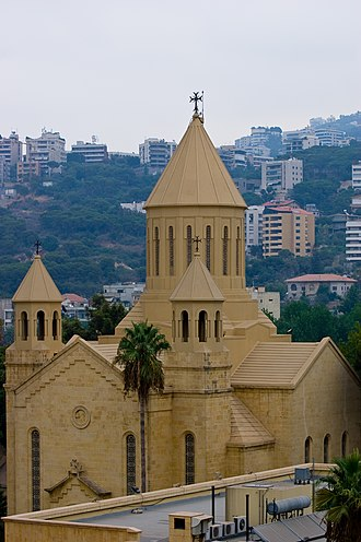 Architecture of Lebanon - Cathedral of St Elie and St Gregory the Illuminator