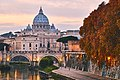 St. Peter's Basilica & St. Angelo Bridge, Rome (39693418321).jpg