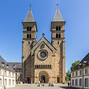 Abbey of Echternach - The facade of the Abbey of Echternach