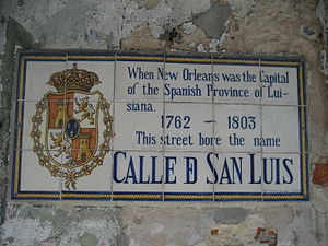 Louisiana (New Spain) - Calle de San Luis in the French Quarter of New Orleans