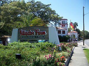 St. Augustine Alligator Farm Zoological Park - Image: St Aug Alligator Farm sign 02