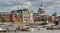 St Paul's Cathedral from South bank - 2014-08-03.jpg