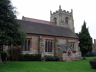 Walsgrave - St Mary's Church (side view), Walsgrave