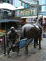 Stables Market shoeing a horse sculpture - geograph.org.uk - 1712757.jpg