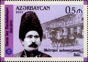 Gasim bey Hajibababeyov - Stamps of Azerbaijan, 2017