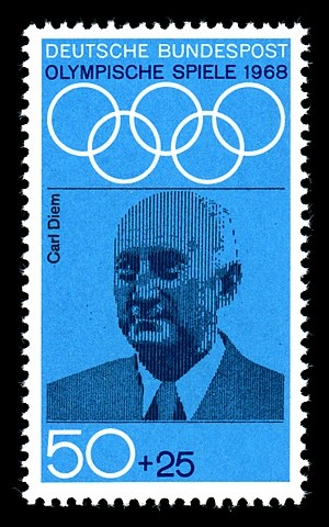 Carl Diem - Carl Diem on a commemorative West German postage stamp
