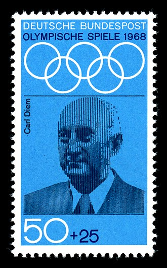 Carl Diem - Carl Diem on a commemorative West German postage stamp