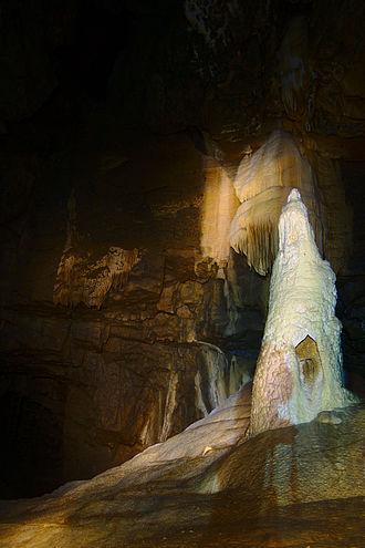 Amatérská Cave - Image: Stará Amatérská jeskyně stalagnit 2