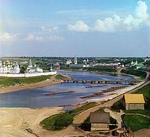 Staritsa (town), Tver Oblast - View of Staritsa in 1912