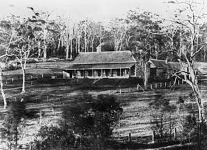 Harlaxton House - Harlaxton in Toowoomba, Queensland, ca. 1870
