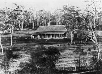 Harlaxton House - Harlaxton in Toowoomba, Queensland, ca. 1870