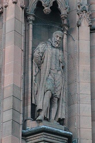 John Napier - Statue of John Napier, Scottish National Portrait Gallery