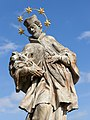 Statue of John of Nepomuk - Sosnová, Opava District, Czech Republic 07.jpg