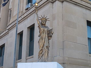 Las Animas County, Colorado - Statue of Liberty replica at the Las Animas Courthouse in Trinidad