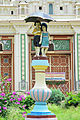 Statue of children with umbrella outside Jaganmohan Palace.jpg