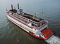 Steamboat Belle of Louisville at Clark Bridge Louisville Kentucky USA Ohio River mile 604 August 1987 file 87h103.jpg