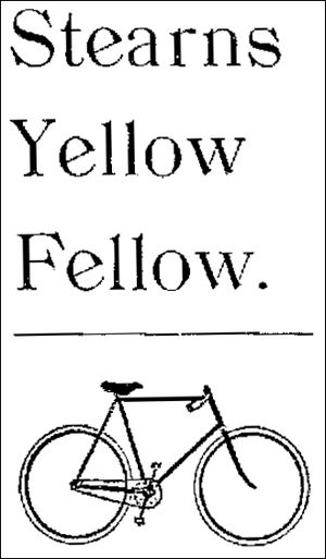 """E. C. Stearns Bicycle Agency - Stearns Bicycle - """"Yellow Fellow"""" - 1897"""