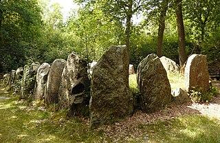 Sieben Steinhäuser group of five dolmens on the Lüneburg Heath, Germany