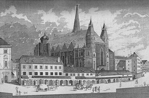 Stephansplatz in Wien 1794
