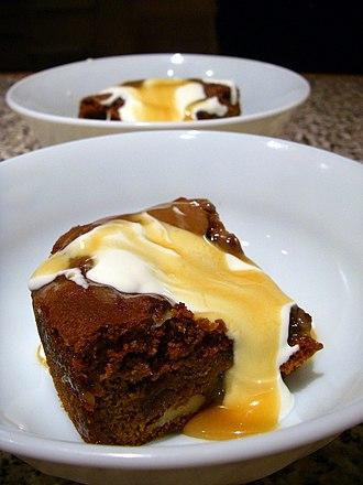 Sticky toffee pudding - Image: Sticky Toffee Pudding