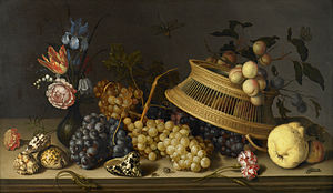 Balthasar van der Ast - Still Life of Flowers, Fruit, Shells, and Insects, c. 1629, Birmingham Museum of Art