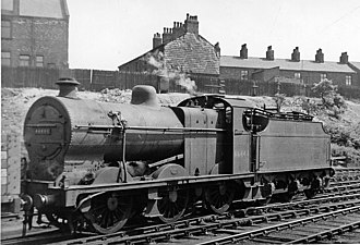LMS Fowler Class 4F - 44444 at Stockport, 1950