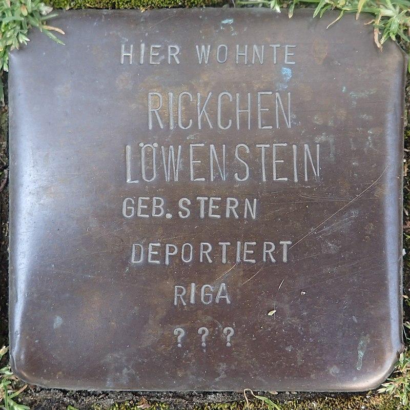 Stolperstein für Rickchen Löwenstein geb. Stern