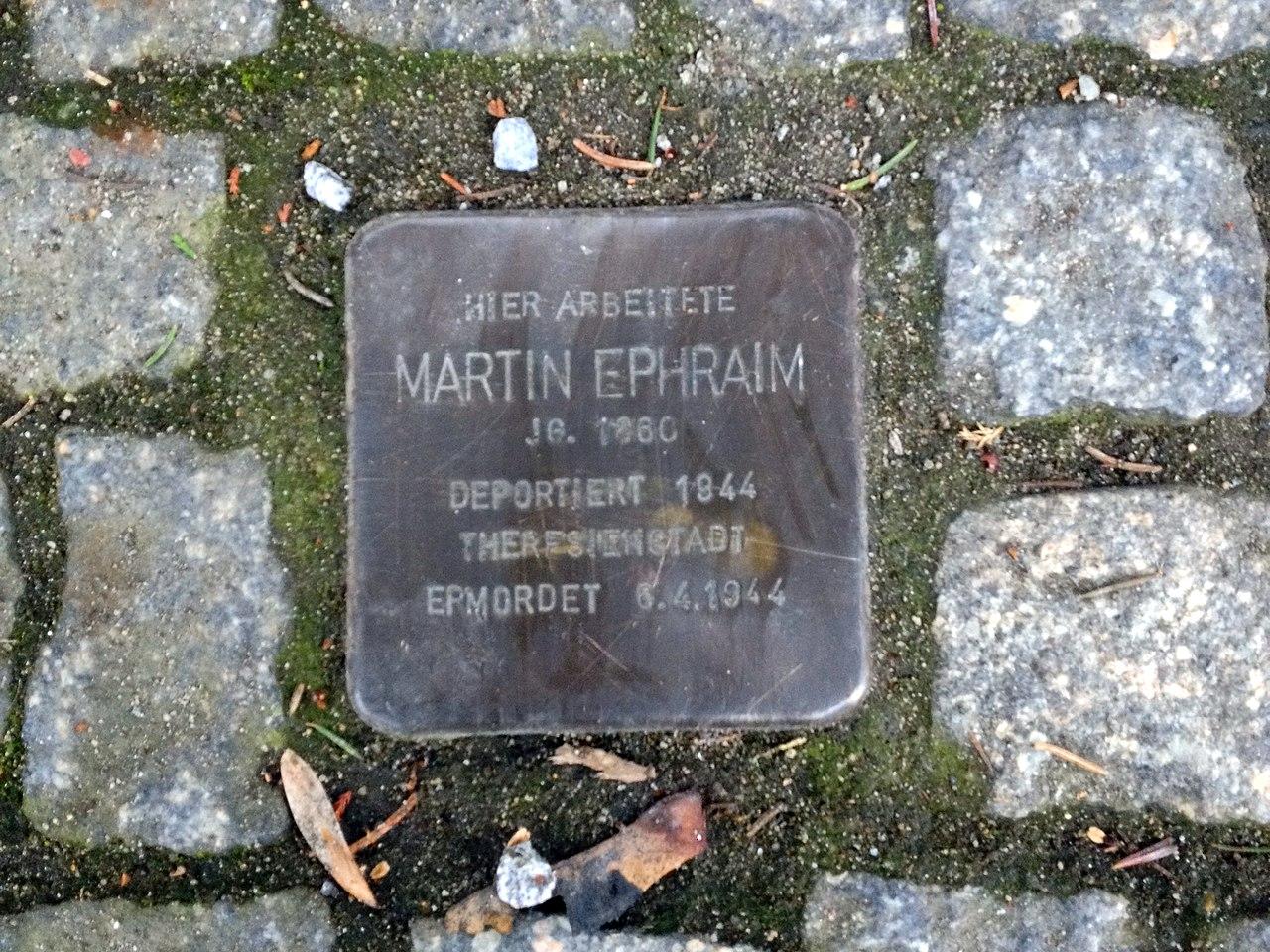 Stolperstein für Martin Ephraim