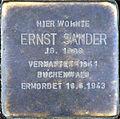 Stolperstein Köln, Ernst Sander (Kleiner Griechenmarkt 8).jpg