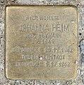 Stolperstein Königin-Elisabeth-Straße 58 (Weste) Johanna Heim.jpg