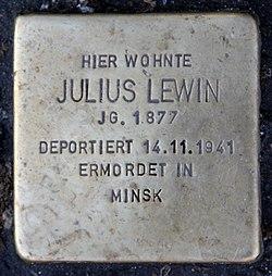 Photo of Julius Lewin brass plaque