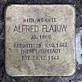 Stolperstein Landshuter Str 33 (Schön) Alfred Flatow.jpg