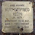 Stolperstein Pariser Str 49 (Wilmd) Kurt Siegfried Klein.jpg