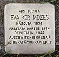Stolperstein für Eva Kor Mozes.JPG